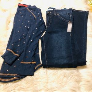 Girl Levi's skinny jeans and tee! Size 10